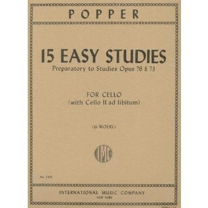 Popper, David - 15 Easy Studies for Cello Solo Published by International Music Company